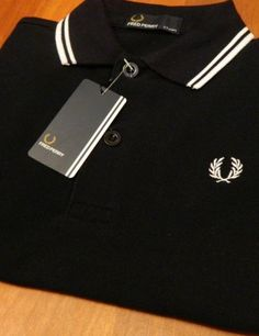 Black Fred Perry polo from fashion-tky - Polo Fashion, Teen Fashion, Fred Perry Polo, Party Clothes, Wearing Black, Fields, Wednesday, Cool Outfits, My Style