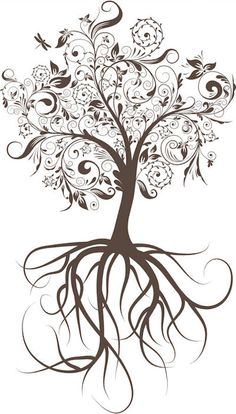 Maybe the roots connecting with my tattoo on my hip?? And have this on the side?...