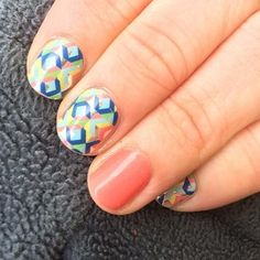 Grapefruit and Abstract Jamberry wraps Jamberry Party, Jamberry Nail Wraps, Mani Pedi, Manicure, Shape Design, Nail Arts, How To Do Nails, Grapefruit, You Nailed It