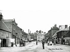 Market Place at the start of the 20th Century