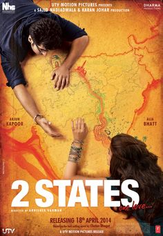 Presenting the first look poster of 2 States featuring Alia Bhatt & Arjun Kapoor.