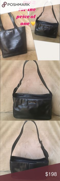 DKNY soft black leather bags great condition, both have inside pocket, and is being sold together DKNY Bags