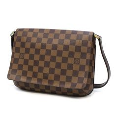 Louis Vuitton Musette Tango Long Damier Ebene Shoulder bags Brown Canvas N51301
