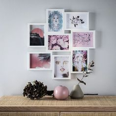 IKEA - VÄXBO Collage frame for 8 photos white I wish it would be Christmas all year long! Photo Wall Collage, Picture Wall, Picture Frames, Ikea Pictures, Hanging Pictures, Wall Pictures, Concrete Wall, Frames On Wall, Ribba Frame