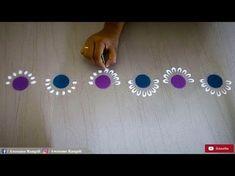 New Creative and Unique easy border rangoli design using bangles for festivals a. Easy Rangoli Designs Diwali, Rangoli Simple, Rangoli Designs Flower, Small Rangoli Design, Colorful Rangoli Designs, Diwali Diy, Rangoli Ideas, Rangoli Designs Images, Flower Rangoli