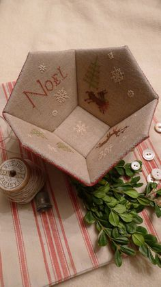 A personal favorite from my Etsy shop https://www.etsy.com/listing/480604584/noel-sewing-basket-kit