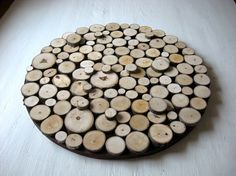Made To Order  Lead time up to 5 weeks Rustic Wood Slice Wall Art Aspen   This is a set of three round rustic wood slice wall art. Made from slice tree branches from fallen trees. Size: All three circles are 18 inches in diameter. Ready to hang Custom orders are welcome if you would like one with some painted colors and some natural! I can do up to a 48 circle. Please contact me with your detailed request and I will get back to you.  Ships to the lower 48 states via USPS mail. A tracking…