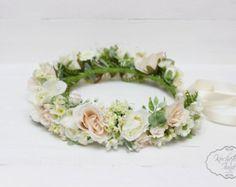 Summer flower crown Flower crown Bridal floral by ByKochetova