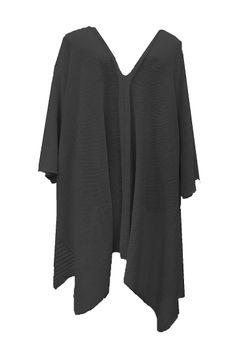 AKH Fashion Lagenlook langer weiter Strick Pullover in schwarz große Größen bei www.modeolymp.lafeo.de