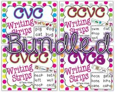 Writing Strips BUNDLED {CVC, CVCe, CCVC, CVCC}One of my favorite activities at guided reading!  Students really to get practice multiple skills all at once.  First, they must hear the sounds within the word and practice stretching and re-stretching it slowly to hear each sound.
