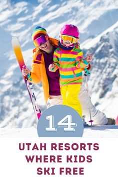 Utah has more than a dozen ways your kiddos can ski free this winter. Here's a guide to starting your kids young. #ski #utah Utah Resorts, Ski Utah, Kids Skis, Free In, Best Places To Travel, Travel With Kids, Skiing, How To Get, Winter