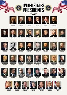 Zapista USA Presidents Art Print The United States of America Poster School Classroom Home Office Wall Decoration Learning History Gifts Unframed x List Of Us Presidents, American Presidents, American History, Us Presidents Timeline, Presidents Usa, British History, History Facts, World History, History Timeline