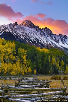 ~~Sneffels Sunrise ~ Autumn Aspens, Mount Sneffels, County Road 7, Ridgway, Colorado by Raven Mountain Images~~