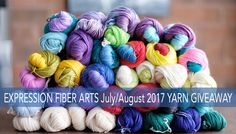 $1000 yarn giveaway by Expression Fiber Arts! Enter now! Ends August 15th, 2017.