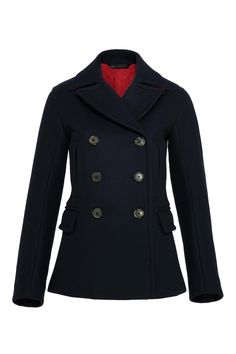 Norman Bonded Wool Peacoat - Marc by Marc Jacobs