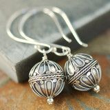"Sterling silver Bali earrings ""Hot Air Balloon"" design"