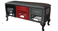 Milk Crate bench by MADE - love it!