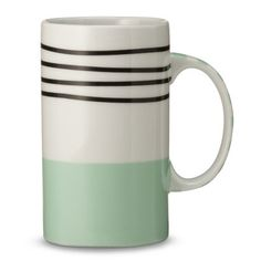 Oh Joy! Striped Stoneware Mug. I love these tall mugs- they're so cute and perfect for hot chocolate this winter.