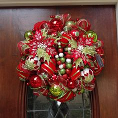 Another Whimsical Christmad Wreath by HertasWreaths on Etsy