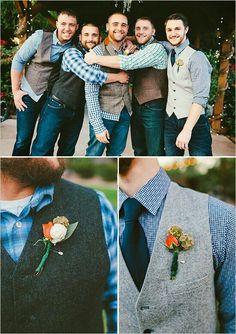 groomsmen casual attire wedding groomsmen attire jeans Laid Back Country Wedding Country Wedding Groomsmen, Wedding Men, Wedding Suits, Dream Wedding, Wedding Country, Diy Wedding, Country Weddings, Wedding Ideas, Country Groomsmen Attire