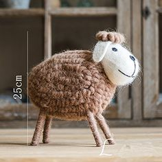 Pure wool handmade sheep decorations decor floor table ornament >>> Continue to the product at the image link. (This is an affiliate link and I receive a commission for the sales) Home Decor Vases, Decorative Signs, Decorative Accessories, Floating Shelves, Cross Stitch Patterns, Sheep, Image Link, Crochet Hats, Wall Decor