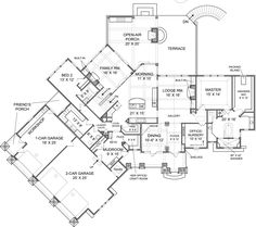 Big Canoe House Plan - Best Selling - House Plan - Big Canoe House Plan | Archival Designs | First Floor Plan