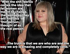 """this-is-life-actually: """" Beth Ditto calls out the harmful message plus-size clothing is really sending According to rock star-turned-clothing designer Beth Ditto, unattractive plus-size clothing. Beth Ditto, Positive Body Image, Body Shaming, Keeping Healthy, Body Love, Fat Women, Skinny Girls, Up Girl, True Beauty"""
