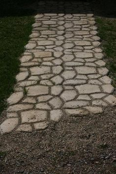 How to build a faux stone walkway for around $40-