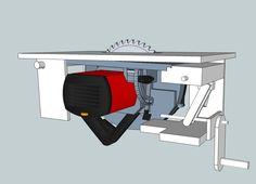Für meinen MFT hatte ich mir ja einen Anbau hergestellt, in dem man verschiedene Module einsetzen kann. Unter anderem einen Tischfräser und...