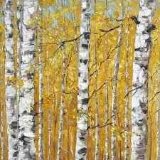 Original Painting 'Birches V' Gallery Wrapped Canvas Trees - x Hang over the fireplace mantel or in the entry hall with a rustic bench underneath. Birch Trees Painting, Rustic Bench, Wood Canvas, Beautiful Artwork, Beautiful Things, Fireplace Mantels, Outdoor Gardens, Original Paintings, Arts And Crafts