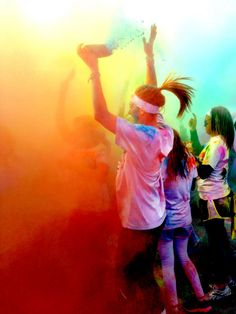 Color run happiness- so excited to do this tomorrow!