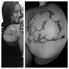 Family tattoos Elephant family tattoo and Elephants on Pinterest Arrow Tattoos, Feather Tattoos, Foot Tattoos, Sleeve Tattoos, Tatoos, Elephant Family Tattoo, Elephant Tattoos, Family Tattoos, Couple Tattoos