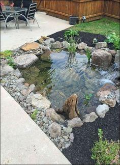 44 Cozy pond garden ideas for beautiful backyards . - 44 Cozy pond garden ideas for beautiful backyards … - Backyard Water Feature, Ponds Backyard, Backyard Ideas, Outdoor Ponds, Desert Backyard, Sloped Backyard, Nice Backyard, Patio Pond, Diy Water Feature