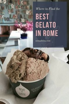 Check these 14 Great Places to get the Best Gelato in Rome. Europe Travel.