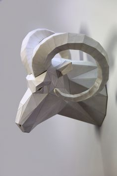 RAM EQUINOX on Behance Sculpture Art, Sculptures, Geometric Sculpture, Batman Painting, Art Studio Design, Polygon Art, Paper Animals, 3d Paper Crafts, Paper Artwork