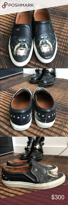 Authentic givenchy Rottweiler sneakers Authentic. Purchased from matches fashion. Good condition just a couple of scratches on the inside. Givenchy Shoes Sneakers