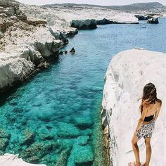 Milos, Cyclades, Greece.  Travel to the incredible island of #milos, on #cyclades!   By @nellyvels.