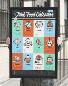 Making Of The Junk Food Calendar 55 Hi's
