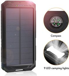 Honest 1pcs 500000mah Solar Power Bank Double Usb Solar Charger External Battery Portable Charger Battery Charger Cases For Smart Phone Comfortable Feel Cellphones & Telecommunications