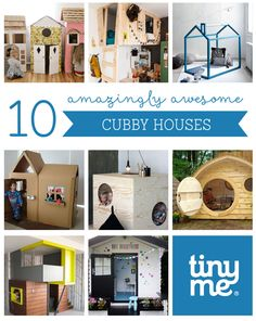 10 Amazingly Awesome Cubby Houses ~ Tinyme
