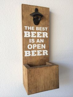 Wall Mounted Bottle Opener With Cap Catcher by WizardOfDesigns