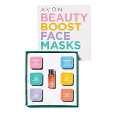 Give your complexion a little boost! Whether you're looking to detox, brighten or soothe winter skin, the Avon Beauty Boost Limited Edition Deluxe Sample Set has something for every skin type! Our personal favorites from this kit:  ❤ Detox mask (clay): purify with charcoal and green clay ❤ Soothing mask (cream): gently calm with aloe vera www.youravon.com/hlenox