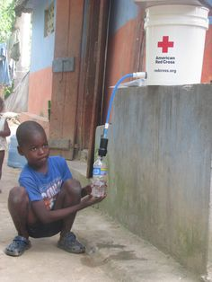 Water with filter, Haiti - this is just like the water filters we delivered to 25 people in the town of Jerusalem, Haiti.  It was so awesome to see a man drink a glass of water for the first time that wouldn't make him sick.  The smile on his face after he guzzled his glass was priceless.