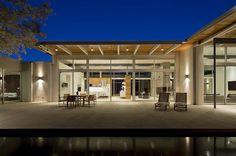 una casa muy moderna