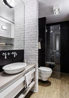 Banheiro modernérrimo: rusticidade na medida certa