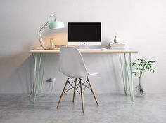 The Hairpin Desk in Green was found on Etsy and is made by Tom and Adam at the Hairpin Leg Company. This beautiful desk has a simple Scandinavian look with a retro feel about it and is made from Formica coated birch wood.