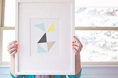 Heart Handmade UK: Washi Tape Triangle Framed Wall Art DIY Tutorial | From Elizabeth Kartchner