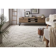 Rugs Usa Beige Bosphorus Tribal Traces Rug Transitional