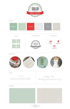 Logo   Website Design :: On Solid Ground Vintage Rentals