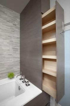 This would save so much space in my tiny bathroom. Some of these ideas are great.